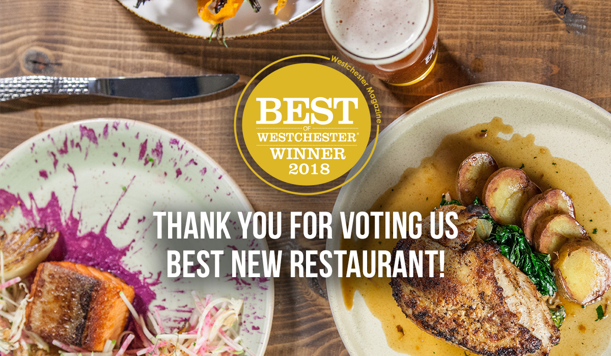 thank you for voting us best new restaurant